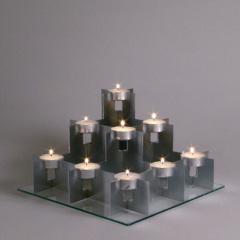 Stadsljus - Isärtagbar ljusstake för kron- och/eller värmeljus