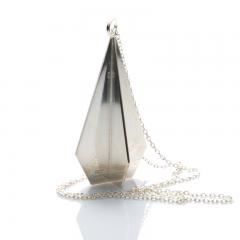 Pendel fasett - silver